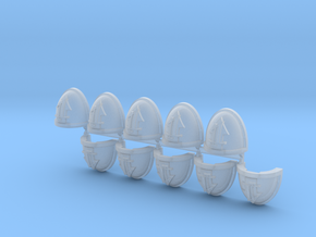 Troops #1 Mk7/8 shoulder pads x10 in Smooth Fine Detail Plastic