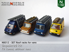 SET Roof racks for vans​ (N 1:160) in Smooth Fine Detail Plastic