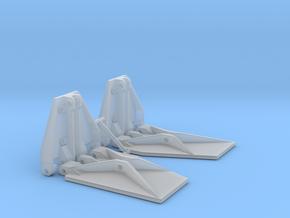 K Plane Trim Tabs in Smooth Fine Detail Plastic: 1:10