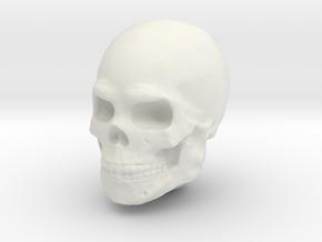 Single Skull Helmet for Sci-Fi 28mm scale miniatur in White Natural Versatile Plastic