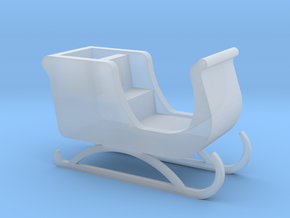 'HO Scale' - Santa's Sleigh in Smooth Fine Detail Plastic