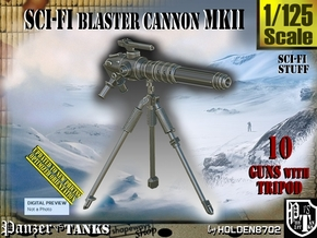 1/125 Sci-Fi Blaster Cannon MkII Set001 in Smooth Fine Detail Plastic