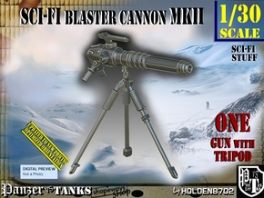 1/30 Sci-Fi Blaster Cannon MkII Set001 in Smooth Fine Detail Plastic