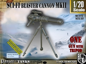 1/20 Sci-Fi Blaster Cannon MkII Set001 in Smooth Fine Detail Plastic