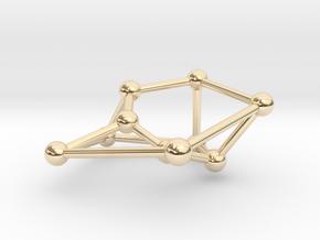 Möbius ladder M_10 in 14k Gold Plated Brass