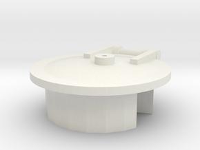 Smokebox Door - 00 Coppernob Loco in White Natural Versatile Plastic