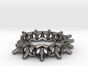 tetrapod cuff bracelet in Polished Nickel Steel