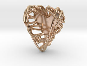 PrintAPot Air Plant Heart Locket in 14k Rose Gold Plated Brass