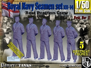 1/50 RN Seamen Rest Set101-14 in Smooth Fine Detail Plastic