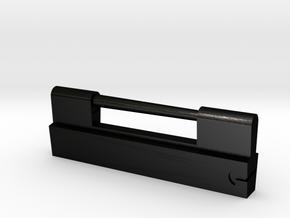 Japanese Ancient Padlock Type1 in Matte Black Steel