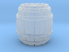 Barrel Stylized A in Smooth Fine Detail Plastic