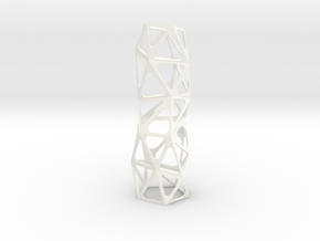 Triangle tower in White Processed Versatile Plastic: Small