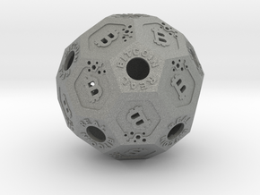 BitCoinReal-Cryptocurrency Polyhedron in Gray PA12