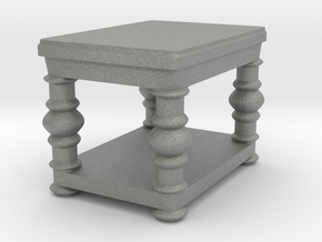 fancy end table v2 in Gray Professional Plastic