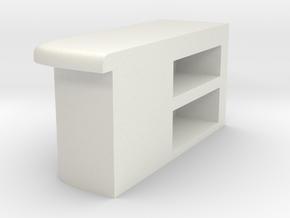 Modular Bar Counter - Left in White Natural Versatile Plastic