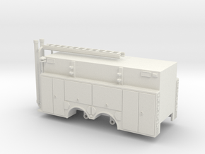 1/87 Rosenbauer Pumper Tanker Body Compartment Doo in White Natural Versatile Plastic