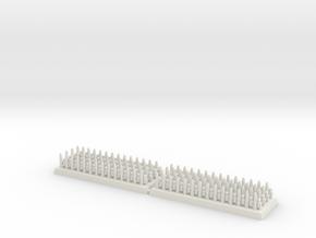 3mm DBA Spears 40x15mm (x2) in White Natural Versatile Plastic