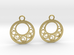 Geometrical earrings no.6 in Natural Brass: Small