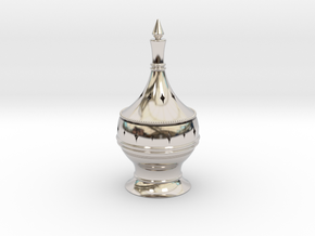 Inscent Burner #1 in Rhodium Plated Brass