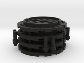 Sewer Pipe Cap Set in Black Natural Versatile Plastic