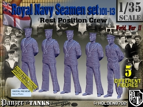 1/35 RN Seamen Rest Set101-13 in Smooth Fine Detail Plastic