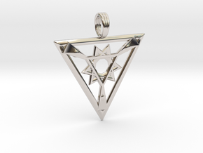 ENERGY FORGE in Rhodium Plated Brass
