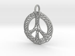 Celtic Peace Pendant in Aluminum: Large