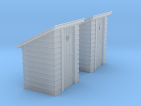 HO Scale outhouse pair in Smoothest Fine Detail Plastic