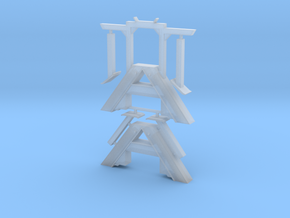 HO Outrigger A Frame Small 87 scale in Smooth Fine Detail Plastic
