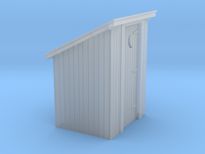 HO Scale board siding outhouse in Smooth Fine Detail Plastic