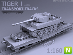 TIGER I - Transport version (N scale) in Smooth Fine Detail Plastic