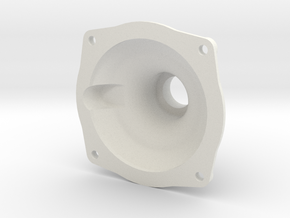 "3/4"" Locomotive Brake Cylinder Cap in White Natural Versatile Plastic"