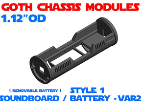 GCM112 - Soundboard Lightsaber Chassis Var2 St1 in White Natural Versatile Plastic
