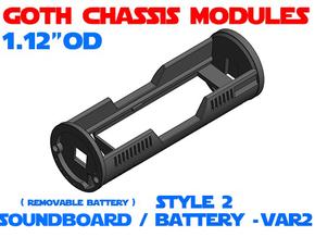 GCM112 - Soundboard Lightsaber Chassis Var2 St2 in White Natural Versatile Plastic