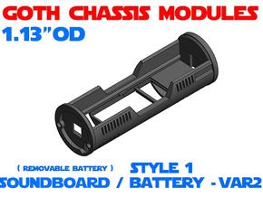 GCM113 - Soundboard Lightsaber Chassis Var2 St1 in White Natural Versatile Plastic