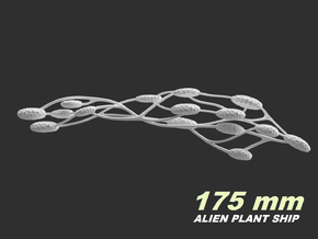 Alien Plant Ship, 175 mm in White Natural Versatile Plastic