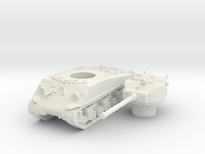 M4A3 (hollow) scale 1/100 in White Natural Versatile Plastic