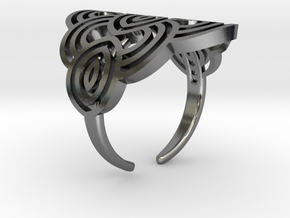 Art deco ark ring in Polished Silver