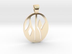 Flower yin yang [pendant] in 14K Yellow Gold