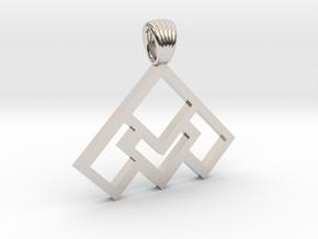 Art déco squares [pendant] in Platinum
