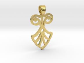 Art Deco Flower [pendant] in Polished Brass