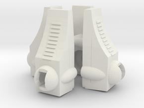 Time Traveler Feet in White Natural Versatile Plastic