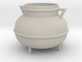 Kessel, Cauldron (115x115x90mm) in Natural Sandstone