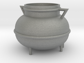 Kessel, Cauldron (115x115x90mm) in Gray Professional Plastic