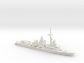 Cassard-class frigate, 1/1800 in White Natural Versatile Plastic