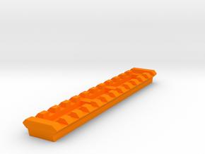 Picatinny Rail for G3 T3 SAS Reinforced Handguard  in Orange Processed Versatile Plastic