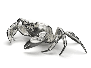 CRAB Sculpture, 8.4cm length in Polished Nickel Steel