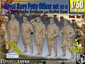 1/50 Royal Navy DC Petty OffIcer Set301-01 in Smooth Fine Detail Plastic