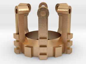 Part 02 C (crystal holder) in Natural Bronze