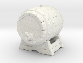 Big Keg A in White Natural Versatile Plastic